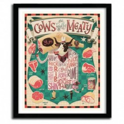 Affiche Cows are REALLY Meaty! by STEVE SIMPSON