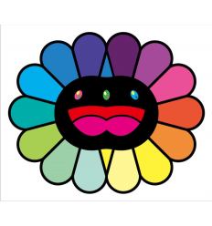 Print MULTICOLOR DOUBLE FACE: BLACK by TAKASHI MURAKAMI