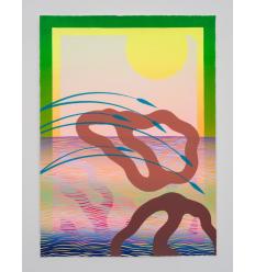 Print Second Beach Monoprint 2 by SAM FRIEDMAN