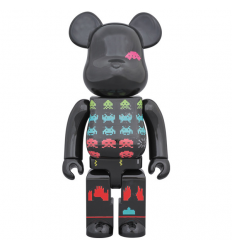 Sculpture Bearbrick 400% Space Invaders