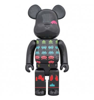 Sculpture Bearbrick 400% Space Invaders