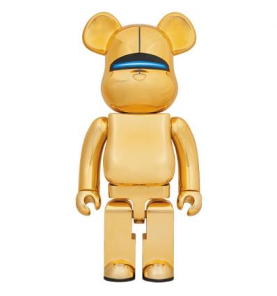 Sculpture Bearbrick 1000% SORAYAMA SEXY ROBOT GOLD