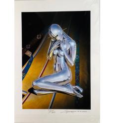 Print Robot Girl (PATTERNS) by HAJIME SORAYAMA