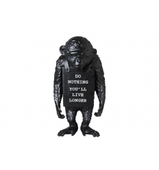 Sculpture Monkey Sign Black Reverse by BANKSY