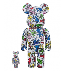 Sculpture 400+100% Bearbrick HARING DANCING PEOPLE