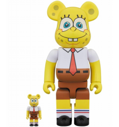 Sculpture 400+100% Bearbrick SPONGEBOB SQUAREPANTS
