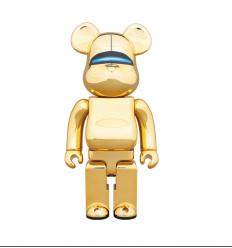 Sculpture Bearbrick 400% SORAYAMA SEXY ROBOT GOLD