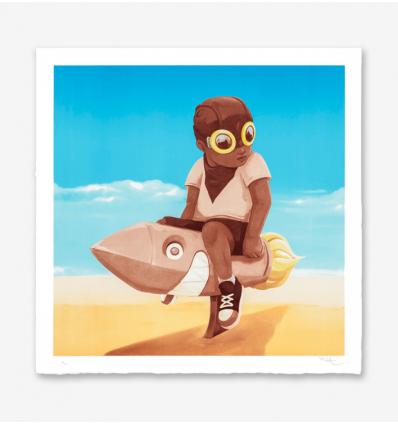Print Boy On Rocket by Hebru Brantley
