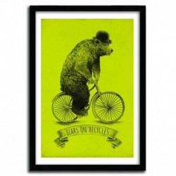 Affiche BEARS ON BICYCLES by Eric Fan