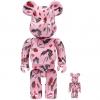 Sculpture 400+100% Bearbrick Kidill x Eri Wakiyama White