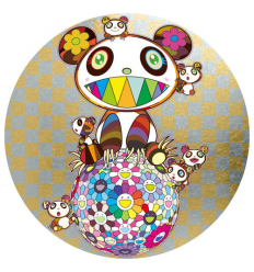 Print PANDA AND PANDA CUBS AND FLOWER BALL by TAKASHI MURAKAMI