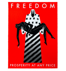Print Freedom,PROSPERITY AT ANY PRICE, RED by CLEON PETERSON