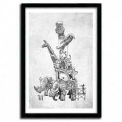 Affiche CLOCKWORK MENAGERIE by Eric Fan