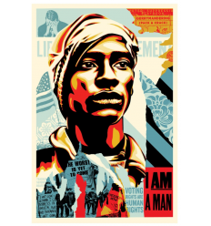 Print VOTING RIGHTS ARE HUMAN RIGHTS by SHEPARD FAIREY alias OBEY