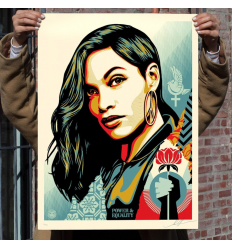 Print POWER & EQUALITY: FLOWER by SHEPARD FAIREY alias OBEY