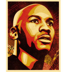 Print MICHAEL JORDAN PORTRAIT by SHEPARD FAIREY alias OBEY