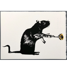Print The Warrior Yellow edition by Blek le Rat