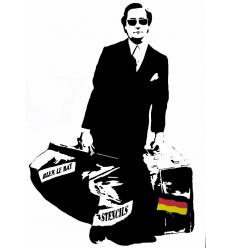 Print L'Homme Qui Traverse les Murs ALL by Blek le Rat