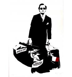 Print L'Homme Qui Traverse les Murs FR by Blek le Rat
