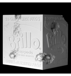 Sculpture Eroded Brillo Box by DANIEL ARSHAM
