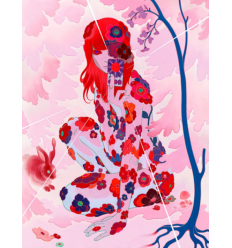 Print SUN TAROT PINK by JAMES JEAN