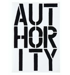 Print Authority by Christopher Wool