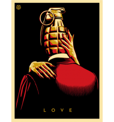 Print LOVE IS A DRUG by SHEPARD FAIREY alias OBEY