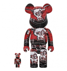 Sculpture bearbrick 400% Jean-Michel Basquiat V5 Red [Pre-Order]
