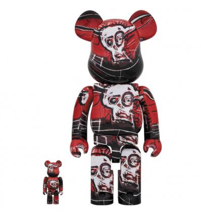 Sculpture bearbrick 400% Jean-Michel Basquiat V5 Red [Pre-Order]