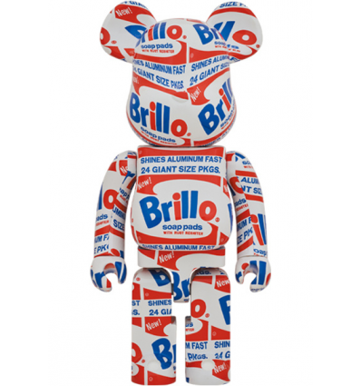 Sculpture bearbrick 1000% Andy Warhol Brillo [Pre-Order]