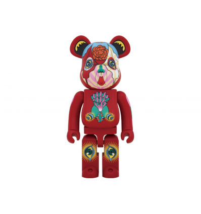 Sculpture bearbrick 1000% KEIICHI TANAAMI RED