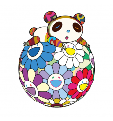 Print ATOP A BALL OF FLOWERS, A PANDA CUB SLEEPS SOUNDLY by TAKASHI MURAKAMI