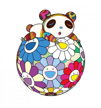 Print ATOP A BALL OF FLOWERS, A PANDA CUB SLEEPS SOUNDLY by TAKASHI MURAKAMI