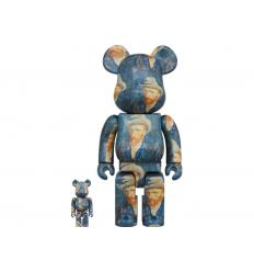 Sculpture Bearbrick 400% & 100% set 2001: A Space Odyssey Space Suit Green & Orange