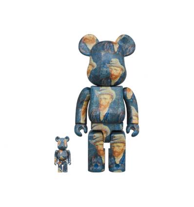 Sculpture Bearbrick 400% & 100% set Van Gogh Museum Self Portrait [PREORDER]