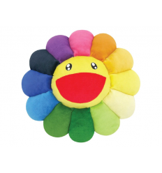 Flower Plush Rainbow/Yellow 100cm by TAKASHI MURAKAMI