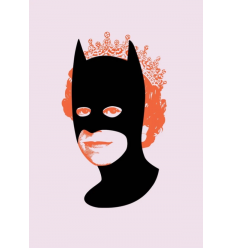 Print Rich Enough To Be Batman Orange and Pink by Heath Kane