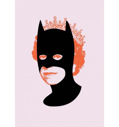 Print Rich Enough To Be Batman Orange and Pink by Heath Kane