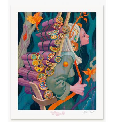 Print KINDLING III by JAMES JEAN