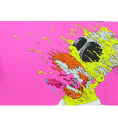 Print DECONSTRUCTED HOMER pink by GONDEK