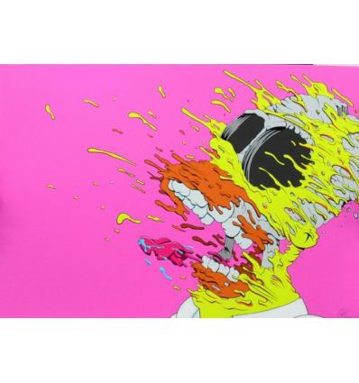 Print DECONSTRUCTED HOMER pink by GONDEK