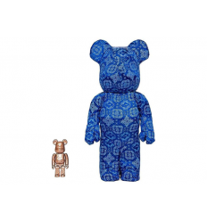 Sculpture bearbrick 400+100% Clot x Nike Set Royale University Blue Silk