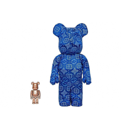 Sculpture bearbrick 400+100% Clot x Nike Set Royale University Blue Silk