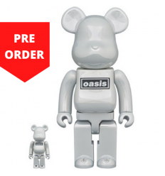 Sculpture bearbrick 400% & 100% Oasis White Chrome [PREORDER]