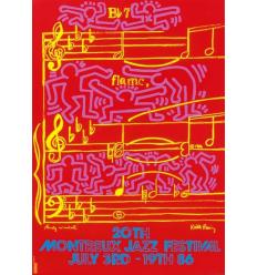 Print MONTREUX JAZZ FESTIVAL 1986 par ketih Haring