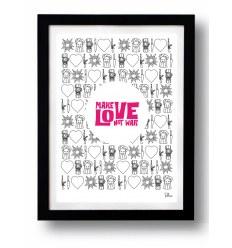 Affiche MAKE LOVE NOT WAR par Rubiant