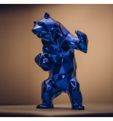 Sculpture Bear Spirit Blue Edition by Richard Orlinski