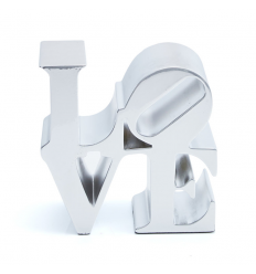 Sculpture Love Silver by Robert Indiana
