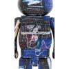 Sculpture bearbrick 400+100% set - Jean-Michel Basquiat V7