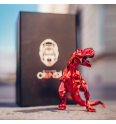 Sculpture T REX Spirit Red Edition by Richard Orlinski